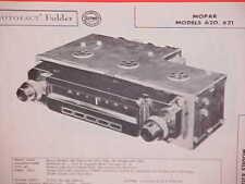 1956 PLYMOUTH BELVEDERE DODGE CORONET ROYAL CONVERTIBLE AM RADIO SERVICE MANUAL
