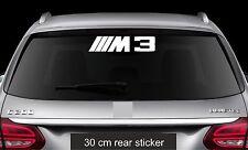 Rear Window Sticker fits BMW M3 Vinyl Decal Car Emblem Logo RW113