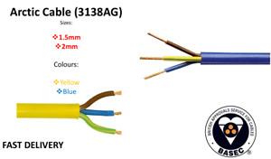 Arctic Blue Yellow 3183 AG Flex Cable 3 core 1.5, 2.5mm Outdoor Caravan Camping