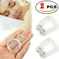 2 pcs Silicone Clipple Magnetic Anti Snore Stop Snoring Nose Clips Sleeping Aid-
