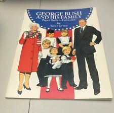 George Bush Family Paper Doll Book Tom Tierney UNUSED Dover USA