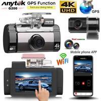2.7inch Dual Lens 4K UHD WiFi Car DVR Camera Night Vision GPS Logger Dash Cam