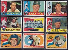 1960 TOPPS NY YANKEE SET EX+/MT