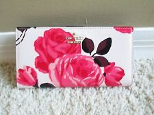 NEW Kate Spade Cameron Street Roses Stacy Wallet Slim Bifold NWT