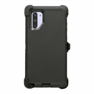 Black For Samsung Galaxy Note 10 Heavy Duty Case Cover w/ Belt Clip