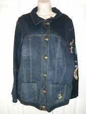 Women's Baby Phat Jean Co. Jacket sz 3X Embroidered Back & Peacock Sleeve