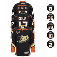 2013 Anahem Ducks NHL Reebok Home Black 20th Anniversary Premier Jersey Men's