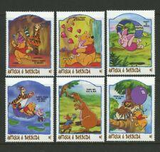 Disney Winnie the Pooh Tigger Piglet 6 mnh stamps 1998 Antigua 2149a-f Owl Kanga