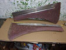 1937 Desoto Left & Right Front Side Fender Hood Panels Molding Trim Oem