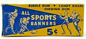 1950 Paris Gum ALL SPORTS BANNERS empty 5 Cent box (mini pennants)