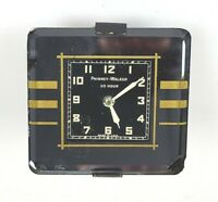 ANTIQUE PHINNEY WALKER GLASS ART DECO CAR AUTO CLOCK FOR PARTS OR REPAIR AS IS