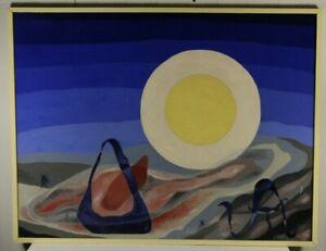 Thilo Maatsch Komposition mit organischen Landschaftselementen Öl 1957 signiert