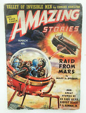 Vtg Pulp AMAZING STORIES March 1939 ISAAC ASIMOV 1ST EDITION + Robert Bloch 1st
