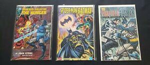 MARVEL/DC CROSSOVER 3PC (VF) GRAPHIC NOVELS, SPIDER-MAN, BATMAN,DARKSEID 1994-95