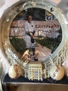 Lou Gehrig Yankee Stadium 75th Anniversary Collection Bradford Exchange 3D Plate