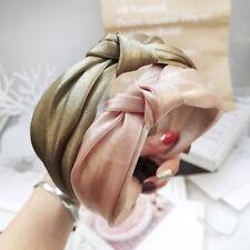 Women's Wide Tie Hairband Bow Knot Headband Hair Hoop Band Twist Accessories