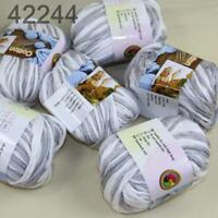 Sale New Yarn Soft Worsted Cotton Chunky Shawl Scarf Hand Knitting 6x50gr 233