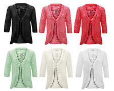 3/4 Sleeve Tie Acrylic Jumpers & Cardigans for Women