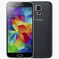 "SAMSUNG GALAXY S5 SM-G900F - 16GB 4G 5.1"" CHARCOAL BLACK UNLOCKED Grade A+"