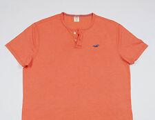 HOLLISTER Men's Orange short sleeved crew neck Top T-Shirt Size Medium