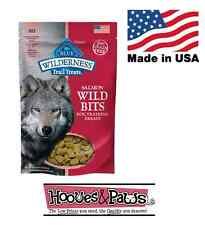 Natural Healthy Blue Buffalo Wilderness BITS Dog Treats NO GRAIN Training Salmon