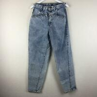 ZENA Vintage High Waist Acid Wash Mom Jeans - Junior's Size 11