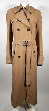 DRIES VAN NOTEN Tan Linen Trench Coat - size 48