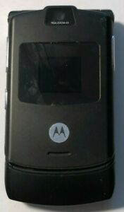READ FIRST Motorola RAZR V3 Black (UNLOCKED) T-Mobile Cell Phone Very Good Used