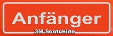 Magnetschild für Fahranfänger mit 3M Scotchlite retroreflektierend, Anfänger