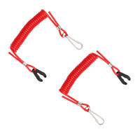 2 Safety Ropes for Yamaha PWC Jet Ski Wave Runners Stop Killing TPU + PVC R I9N7