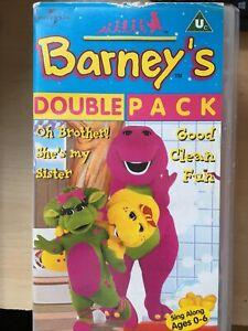 Barney VHS Video Cassette Tape Double Pack Free UK P+P
