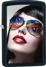 Zippo 2016 Catalog NEW Sun Glass Colorful Big Apple Reflection Black Matte 29090