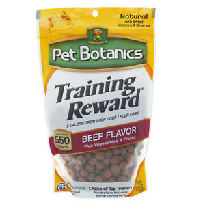 Pet Botanics 20 oz Training Rewards Dog Treats Beef Flavor