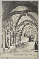 """CPA """" Abbaye de SAINT WANDRILLE - Galerie du Cloître - Lavabo"""