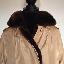 cappotto seta rivestito in castorino