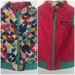 Patagonia Reversible Quilted Vest Girls 3T Pink Colorful Zip Front Baby Toddler