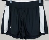 Under Armour Women's Running Workout Athletic Shorts - Black/White - Size MD