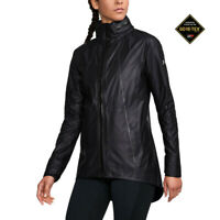 Under Armour Womens GORE-TEX Long Jacket Top Black Sports Running Waterproof
