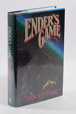 Ender's Game, 1st Edition 1st Printing, Orson Scott Card, 1985, HCDJ, TOR, VG/VG