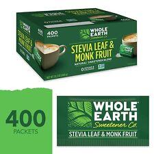 WHOLE EARTH SWEETENER Stevia Leaf and Monk Fruit Sweetener Erythritol Sweetener