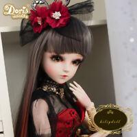 """24"""" 1/3 Kugelgelenk Prinzessin BJD Doll Puppe mit Gesicht Make-up Augen Perücken"""