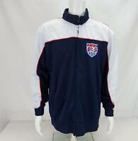 US Soccer Team USA Print Warm-Up Track Jacket Blue/White Men's XL