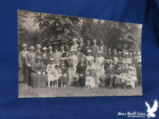 RPPC Wedding Party HUGE Family Lots of Flowers WOW