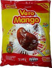 Mexican Mango lollipop sucker authentic mexican pop with chile paleta vero mango
