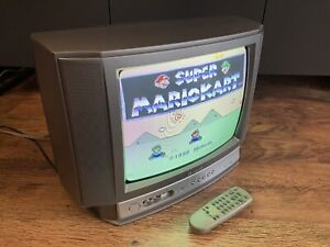 """Aiwa SE1430 Portable 14"""" CRT Stereo TV Retro Gaming Monitor Tested & Working"""