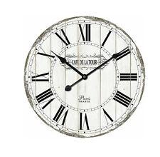 Uhr Wanduhr Ø 60 cm MDF weiß antikisiert Home Affaire      279405
