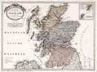 1795+Map+of+Scotland+Franz+Johann+Joseph+von+Reilly+Scottish+Art+Poster+11%22x15%22
