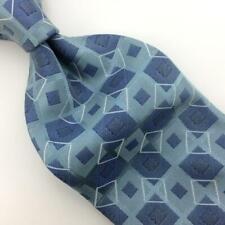 Canterbury Tie Silk Necktie Aquamarine/Gray Square Boys Child Silver I17-458 New