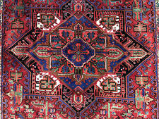 8x11 Antique Rug Hand-Knotted Wool handmade vintage oriental tribal carpet 8x10