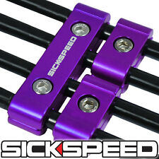 3PC PURPLE ENGINE SPARK PLUG WIRE SEPARATOR DIVIDER CLAMP KIT FOR 8MM 9MM 10MM A